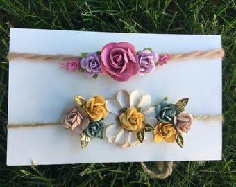 Tie-back headbands- set of 2
