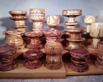 Handmade Pincushion Base Oak