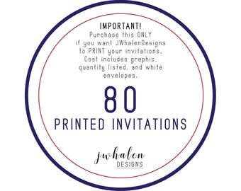 80 Professionally Printed Invitations
