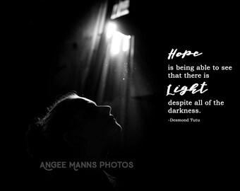 Dark Art Photograph, Inspirational Quote, Low Light Portrait, Fine Art Portrait