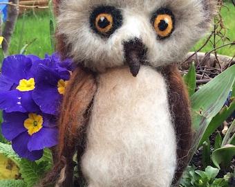 Whoooo!  needle felted owl sculpture