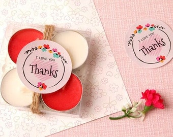8 Message stickers/I Love You stickers/Thanks stickers/candle stickers/gift stickers