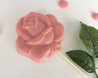 Beautiful Rose chocolate lolly
