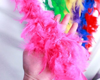 At choose Marabou feather boa/ BOA TURKEY FEATHERS/ Colored marabou of 80 mm llarge 2 meters