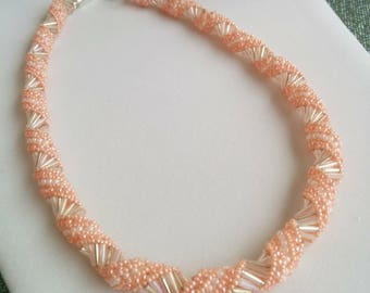Shades of Pink Spiral Bead Necklace
