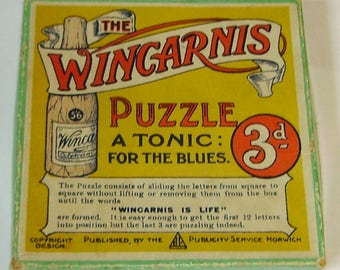 The Wincarnis Puzzle Advertising tile slide puzzle