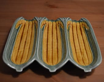Vintage made in Portugal dish for 3 (or 6 stacked) corn on the cob