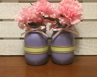Set Of Two Pint Size Mother's Day Jars