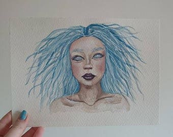 "Original Water Colour Painting // ""Electra"""