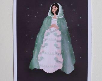 art print ~A5, Christine Daae, The Phantom of the Opera, musical,