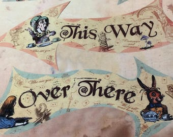 Alice in Wonderland fabric / fabric panel / Alice in Wonderland