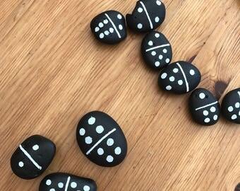 Pebble Dominoes Game Set