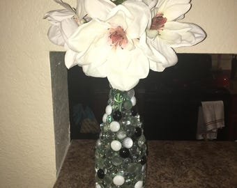 Beaded Glass vase