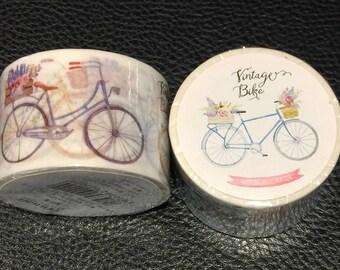 Pretty Vintage Bicycle Washi