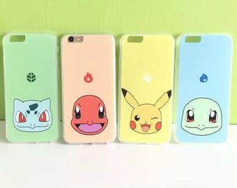 Pokemon iPhone 8 case, iPhone 8 plus case, iPhone case 7 plus, soft iPhone 7 case,Transparent Clear Phone Case iPhone,red iphone 7
