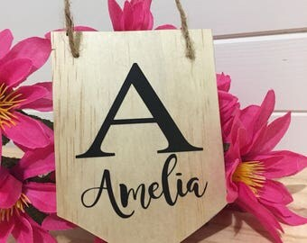 Customised name wall banner, kids room, wall decor, personalised