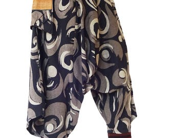 Harem pants; Butterfly Swirl, Size: Medium
