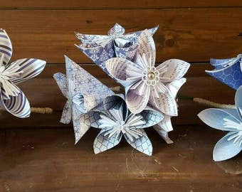 Paper flowers made to order
