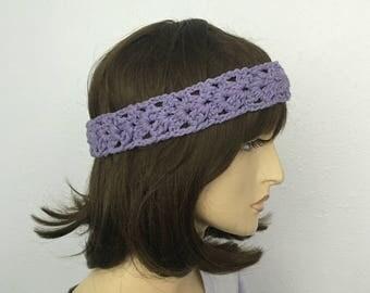 Crochet Women Summer Headband in Purple Girl Headband Women Accessories Great Gift
