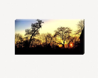 Sunset Outside The Window Canvas
