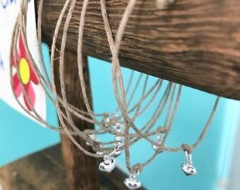 Hemp and Sterling Silver Bracelet