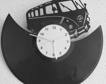 Pendulum clock car truck vinyl vinyl Volkswagen Combi