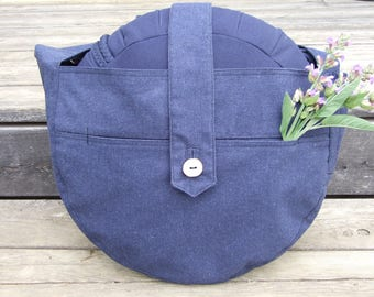Zafu - recycled Denim bag