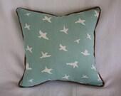 Blue/White Bird Pillow - Decorative Pillow