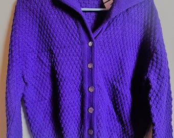 Vintage PURPLE knit sweater