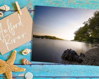 Greeting Card | Helford River, Cornwall | Premium Greeting Card & Brown-Ribbed Envelope | Beautifully Handcrafted in Cornwall
