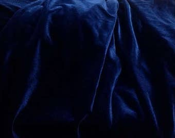 Navy Blue Velvet Fabric, Dark Blue Velvet Fabric By The Yard