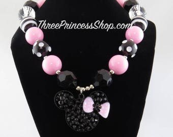 Black Mickey Mouse - Bubblegum Necklace (Kids)