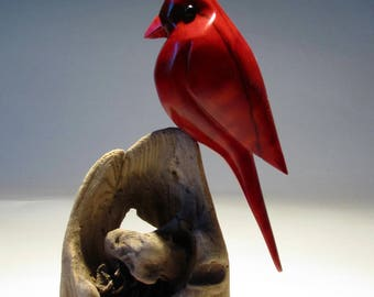 Bird Carving, cardinal