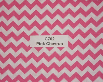 Pink Chevron Cotton Fabric  SHIPS FAST Chevron Cotton fabric for quilting sewing crafts clothing fabric store free shipping available C702