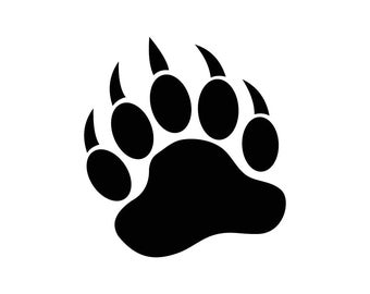 Bear Paw Graphics SVG Dxf EPS Png Cdr Ai Pdf Vector Art Clipart instant download Digital Cut Print File Cricut Silhouette