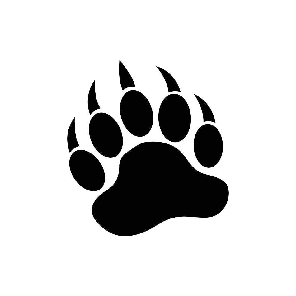 bear paw graphics svg dxf eps png cdr ai pdf vector art Cat Paw Print Clip Art Cat Paw Print Clip Art