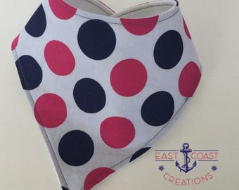 Pretty polka dot bandana bib