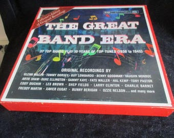 Reader's Digest The Great Band Era 10 Vinyl LP Box Set Collector's Edition of Original Recordings 37 Top Bands (1936 - 1945) RCA Victor Co.