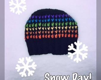 Rainbow Snow Day Beanie