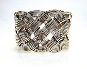 Sterling Silver Braid Cuff Bracelet