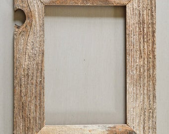 8 x 10 Weathered Reclaimed Wood Frame - Thin