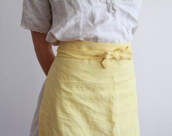 Handmade 100% linen apron