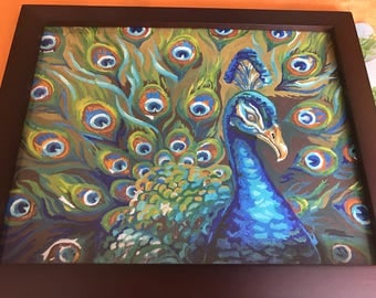 Indian Peacock painting