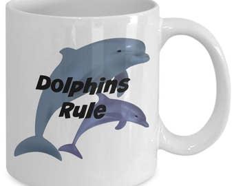 Dolphins Rule Coffee Mug