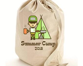 Camping Duffel Bag Laundry Bag, Summer Camp Bag, Duffle, Canvas-Weekend Bag,Tote Bag,Travel Bag, Luggage Bag, Camping, Custom Laundry Bag