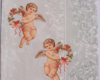 Decoupage Paper Napkins x4 Angel Retro Vintage for Decoupage Craft Scrapbooking 011