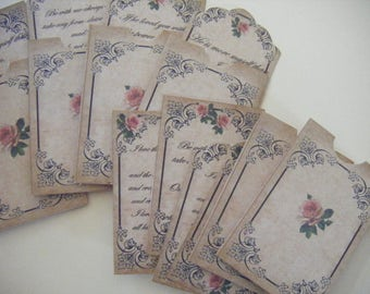Wuthering Heights Tags with Pockets  Digital PDF