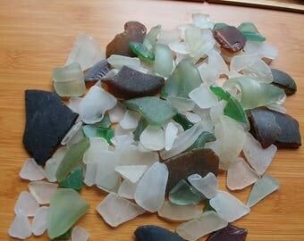 Genuine surf tumble. AUTHENTIC sea glass beach glass. 1 lb