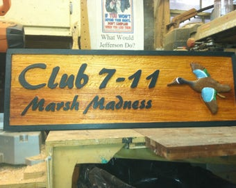 Custom carved wood sign or wall plaque