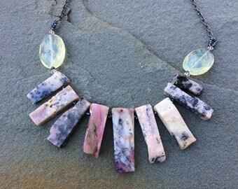 Raw Opal Stick Necklace